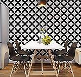 Oileask Tuile géométrique noir et blanc carreaux petit restaurant décoration...