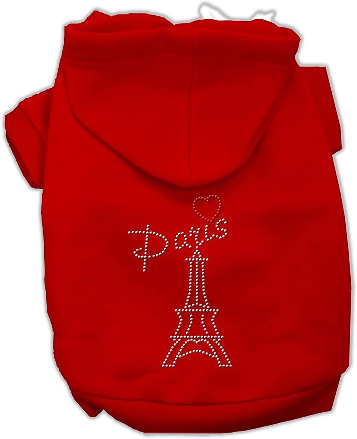 Dog   Cat   Pet Charms Paris Rhinestone Hoodies Red XL (16)