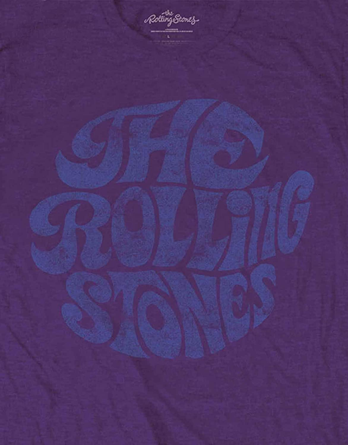 The Rolling Stones T Shirt Vintage 70s Band Logo new Official Mens Purple