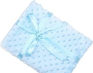 Annlaite Unisex Children's Soft Baby Blanket Minky Dot- Sherpa Fleece Baby Blanket 30 by 40 Inch (Arctic Blue)