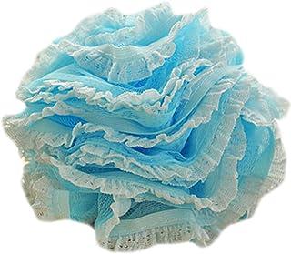 2Pcs Soft Lace Bath Sponge for Shower Spa Body Back Gentle Exfoliating Scrubber, Blue