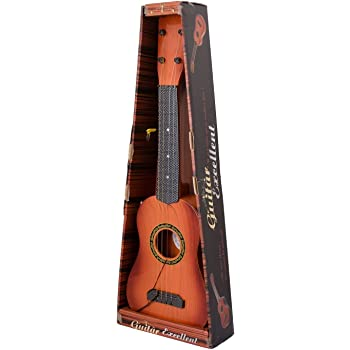 """Sajani 4-String Acoustic Guitar Learning Kids Toy, Brown 18"""""""