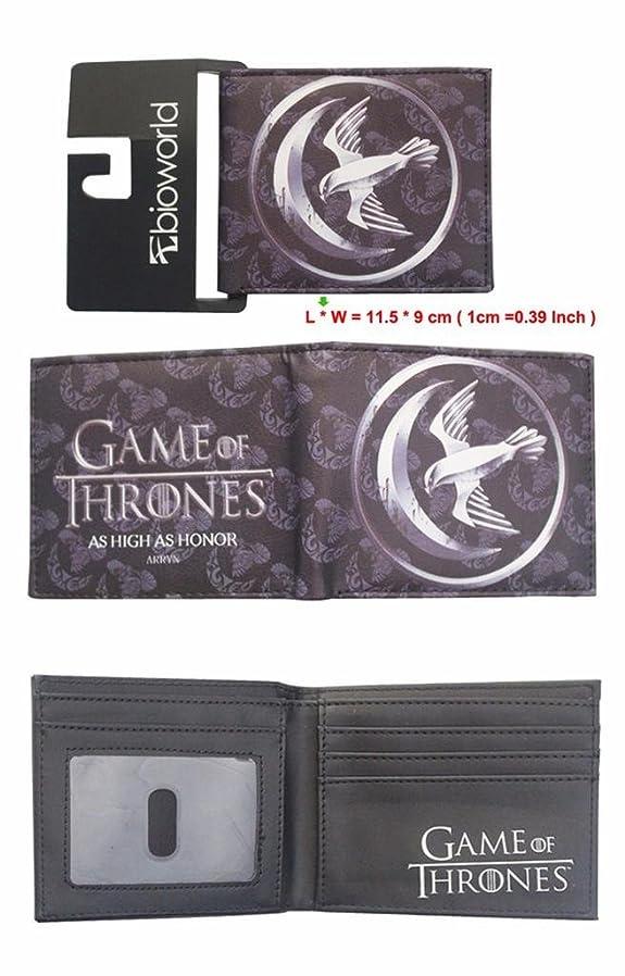 北極圏シーケンス奪うGame of Thrones Arryn House Sigil Crestロゴ二つ折りメンズBoys Wallet w /ギフトボックスby Athena