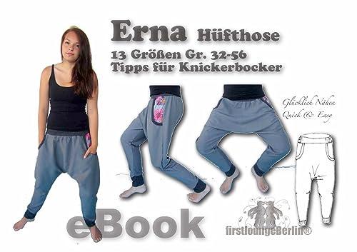 Erna Nähanleitung mit Schnittmuster für Hänge-Hose [Download]