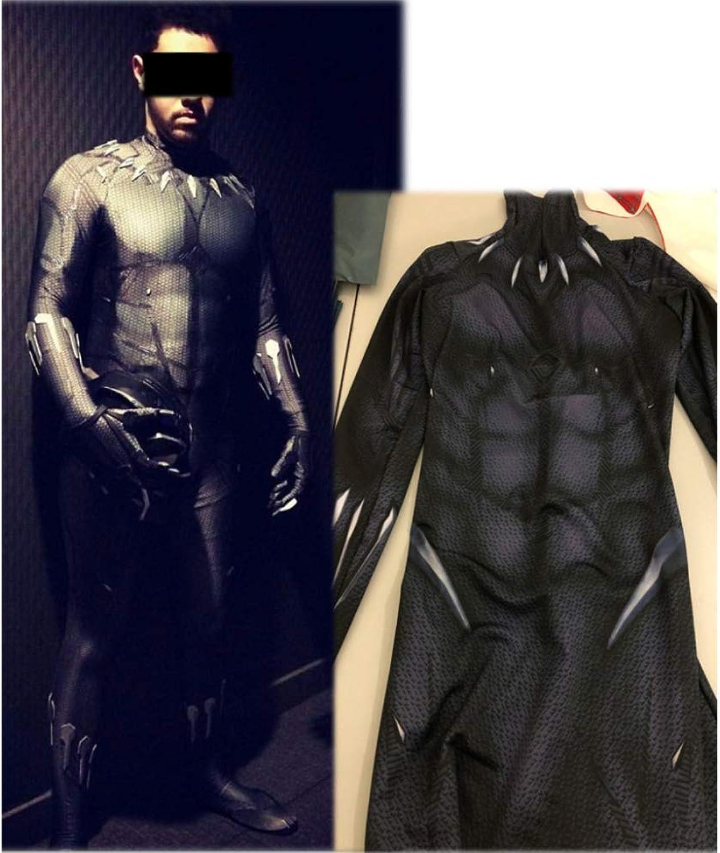 marcas de moda negro Panther Niño Adulto Ropa CosJugar Vestido Vestido Vestido Halloween Navidad Celebracion súperhéroe Traje Fiesta De Baile Medias,negro-L  el estilo clásico