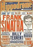 YASMINE HANCOCK Frank Sinatra in Birmingham Blechschild,