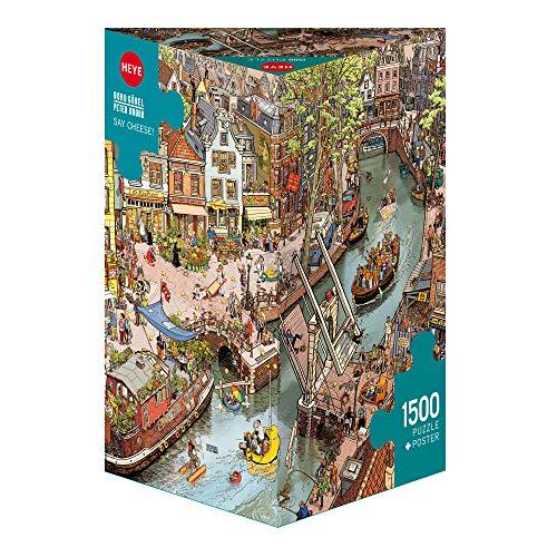 HEYE 29793 - Say Cheese! Triangular, Göbel/Knorr, inklusiv Poster, 1500 Teile Puzzle