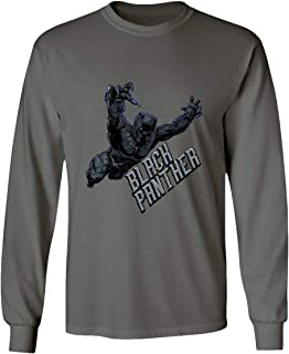 New Graphic Prowl Novelty Tee Panther Men's Long Sleeve T-Shirt