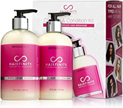 Hairfinity Cleanse and Condition Kit - Biotin Shampoo & Conditioner Set - Silicone & Sulfate Free Growth Formulas for Dama...