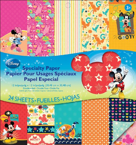 EK Success Disney Specialty Paper Pad, Familia Mickey