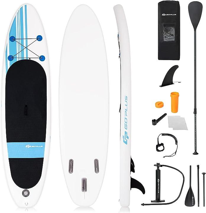 tavola da surf gonfiabile stand up paddle gonfiaggio e sgonfiaggio rapido con accessori by costway sp35418it