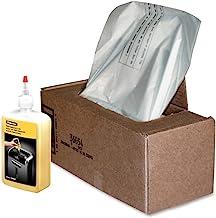 $64 » Fellowes 3605801 Shredder Waste Bags and 12 Oz. Shredder Oil Performance Bundle for 428/485 Series