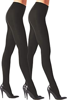 2 PAIRS-GIRLS JAZZY FASHION OPAQUE TIGHTS WITH STARS DESIGN HEAT HOLDER