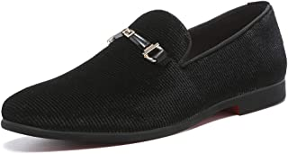 Black Loafers Men丨Men's Penny Loafers & Velvet Loafers Men - Fashion Formal Buckle Casual Dress Shoes