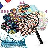 Serviette hygiénique lavable reutilisable menstruelle 8pcs- 3 Tailles Kit Zero dechet, Regle flux abondant. Protege slip/culotte avec couche microfibre ultra absorbante. Sac transport hygienique bio.