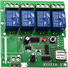 Sonoff WiFi Switch Relay Module, Wireless 4CH DC 5V Smart Switch Timer APP Remote Control for Smart Home