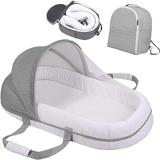 cojin antivuelco bebe,chichoneras cuna,cojin bebe,Cama de bebé portátil multifunción, nido para dormir, camas de viaje, nido de bebé para recién nacidos, cunas portátiles para bebé, multifunción
