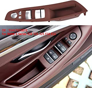 Alician Door Handle Window Switch Panel for BMW 5 Series F10 F18 520 523 525(Beige) Brown A1870-03