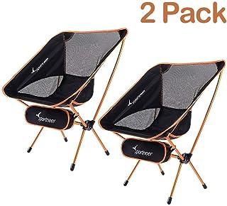 Sportneer Silla de camping, portátil, ligera, plegable,