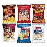 HERR'S Potato Chips, Honey BBQ, TX Pete Hot Sauce, Creamy Ranch Habanero, Salt & Vinegar, Baby Back Ribs, Ketchup Flavored, Gluten-Free, 1oz Bag (12-Pack)