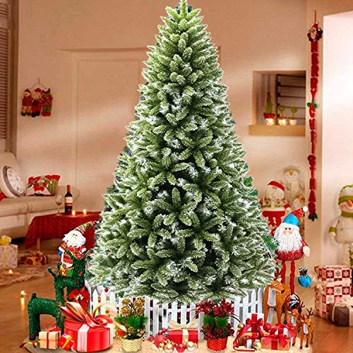 WeyTy Christbaum Künstlich Tannenbaum Weihnachtsbaum Künstlicher 225 cm (ø Ca. 130 cm) mit Ca. 1330 ästen Weihnachtsdeko Tannenbaum mit Schnee Kunst Tannenbaum Spritzguss inkl. Metallständer