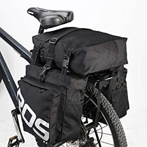 Voolok 37L Multifuction Waterproof Bicycle Rear Rack Bag  with Reflective Coating  Detachable  Wear and Scratch Resistance  for Most Bike