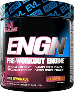 Evlution Nutrition ENGN Pre-Workout, Pikatropin-Free, 30 Servings, Intense Pre-Workout Powder for Increased Energy, Power,...
