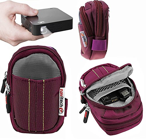 Navitech Purple Protective Portable Projector Carrying Case and Travel Bag Compatible with The  UO Smart Beam Laser Portable Mini Projector