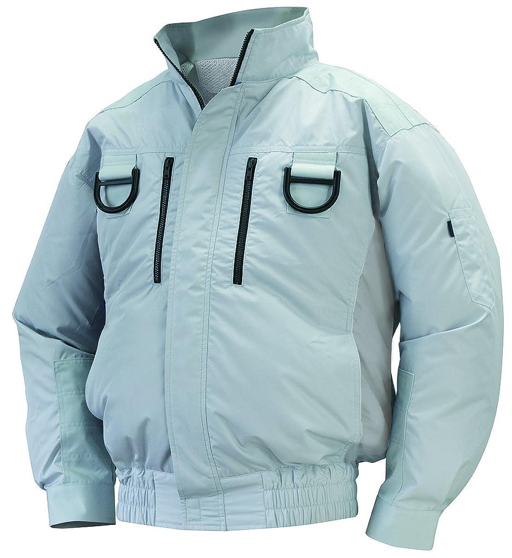 周囲装置反対にNSP 空調服フルハーネス用 服単体 NA-113 シルバー チタンコーティング 立ち襟 肩?袖補強あり サイズ2L 8209418