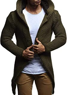Fashion Long Knit Cardigan Sweater for Men Casual Hoodies Sweatshirt Jacket Coat