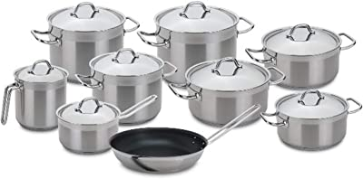 Silampos Professional Tejo 17 Pieces Stainless Steel Cookware Set Made in Portugal