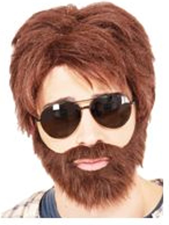 Vegas Hero Wig and Beard Alan Garner the Hangover Movie Zach Galifianakis