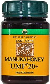 Natural Solutions Manuka Honey UMF 20 - MGO 850+ Certified East Cape Te Araroa New Zealand (Large)