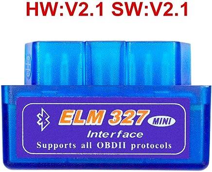 Eulan Bluetooth ELM327 OBD2 Scanner V1.5 Hardware ELM 327 1.5 Car Code Reader with PIC18F25K80 Chip For Android Torque PC Big Black