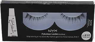 NYX Fabulous Lashes & Glue, El 210 Tonis Fave- 0.544 Ounce