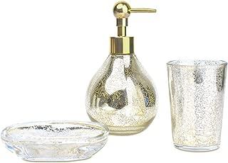 Best black crackle glass bathroom accessories Reviews