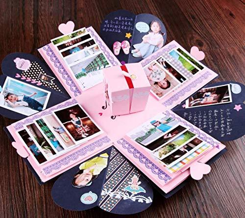 Caja Sorpresa Regalo, ZoneYan Caja Explosiva Regalo, DIY Caja de Sorpresa Explosion Box, Caja de Fotos Creativo, Caja Regalo Fotos Para Cumpleaños, Día de la Madre, Aniversario Boda Navidad