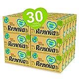 Renova Pañuelos Faciales Renova Recycled | 30 x 72 Pañuelos (2.160 total) Ecológicos de 3 Capas | 100% Reciclado con Ecolabel y FSC