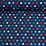 MAGAM-Stoffe Warm Stars Jersey Stoff Oeko-Tex Meterware