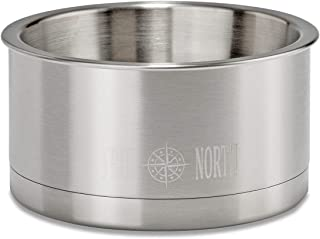 TRUE NORTH Stainless Steel Insulated Dog Water Bowl + Dog Food Dish, Keeps Water Cold Up to 24 Hours, 63 oz