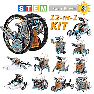 Lucky Doug Solar Robot Kit 12-in-1 Science STEM Robot Kit Toys for Kids Aged 8-12 and Order, Science Building Set Gifts for Boys Girls Students Teens, Educational DIY Assembly Kit with Solar Powered