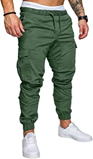 ✦◆HebeTop✦◆ Mens Athletic Workout Sweatpants Casual Trousers with Cargo Pockets