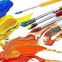 wuudi Confezione di pennelli per Bambini, Kit di Spugna per Pittura con apprendimento precoce con Grembiule Impermeabile a Manica Lunga, Kit di Disegno per 56 Pezzi #3