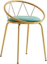 Nrand European Furniture Bar Tables And Chairs Velvet Fabric Upholstered Seat, Back And Arm With Metal Legs Kitchen Breakf...