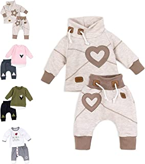 Baby Sweets Unisex 2er Baby-Set mit Hose & Shirt als Baby-Erstausstattung für Mädchen und Jungen/Baby-Kleidung-Set aus Bio-Baumwolle für Neugeborene & Kleinkinder in verschiedenen Größen