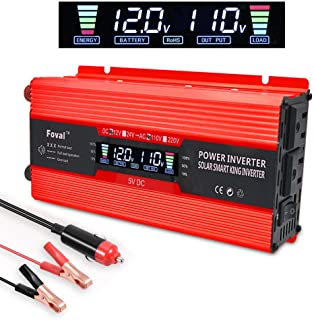 IpowerBingo 700W/1500W Power Inverter Dual AC Outlets and Dual USB Charging Ports DC 12V to 110V AC Car Converter with Digital Display