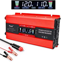 LVYUAN Power Inverter 700W/1500W Dual AC Outlets and Dual USB Charging Ports DC to AC Inverter 12V to 110V Car Converter DC 12V Inverter with Digital LCD Display