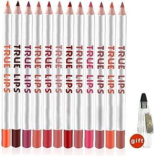 Matt läppfodral penna uppsättning naturliga läpp smink höga pigmenterade pennor vattentäta och långvariga sammet läpp linj...