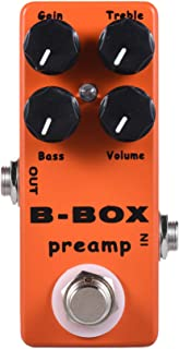 Mosky Mini B-Box Preamp Pedal Electric Guitar Effect with Overdrive Function