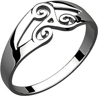 GWG Women's Rings Gift Ring Sterling Silver Celtic Spiral Triskele for Women